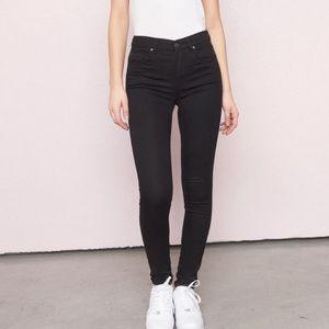 Garage Black Skinny Jeans No Rips